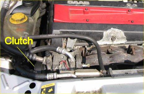Adjusting the clutch air gap on the Saab 9000 air